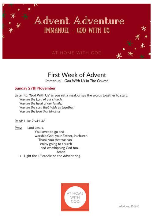 AHWG_Advent Adventure Week 1