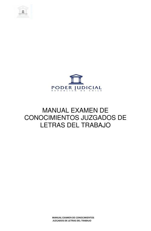 Manual Examen Conocimientos Juzgados de Letras del Trabajo