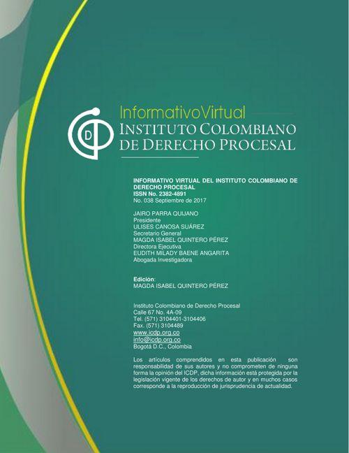 Informativo No. 38