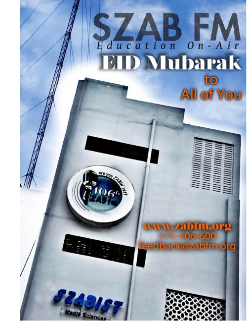 """SZAB FM 106.6 """"Eid Edition"""""""