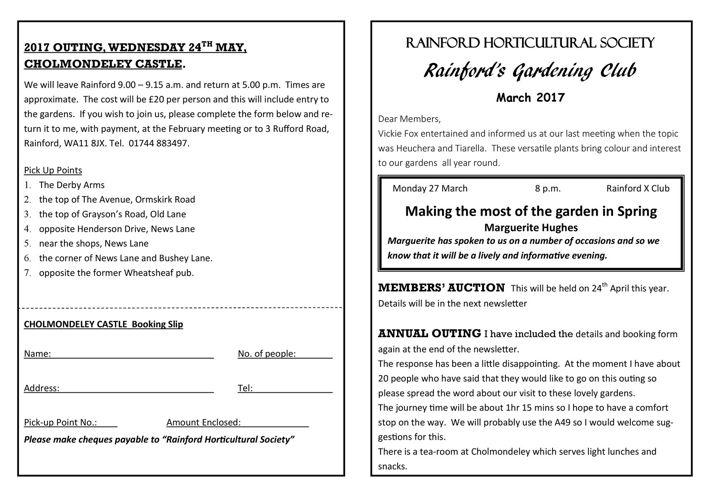 MARCH 17 Newsletter