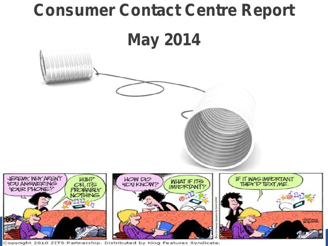 May YTD Contact Centre Monthly Report