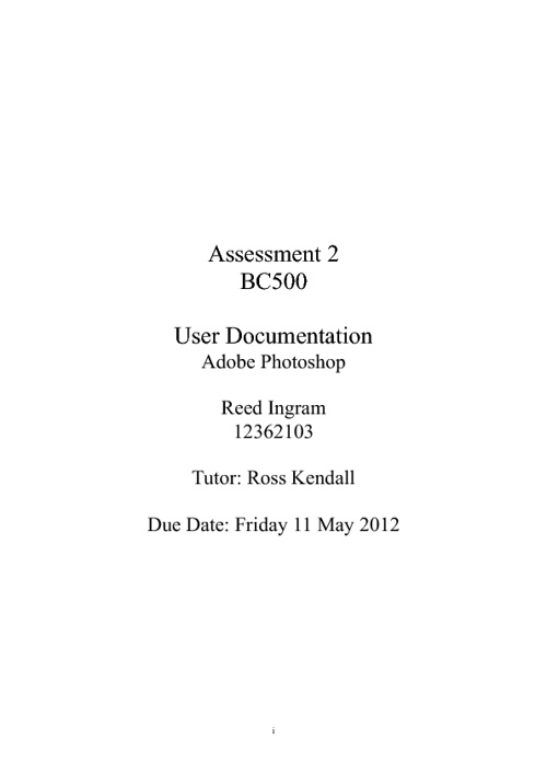 User Documentation[1]