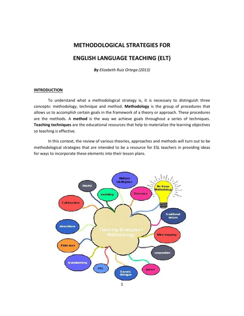 Methodological Strategies for ELT