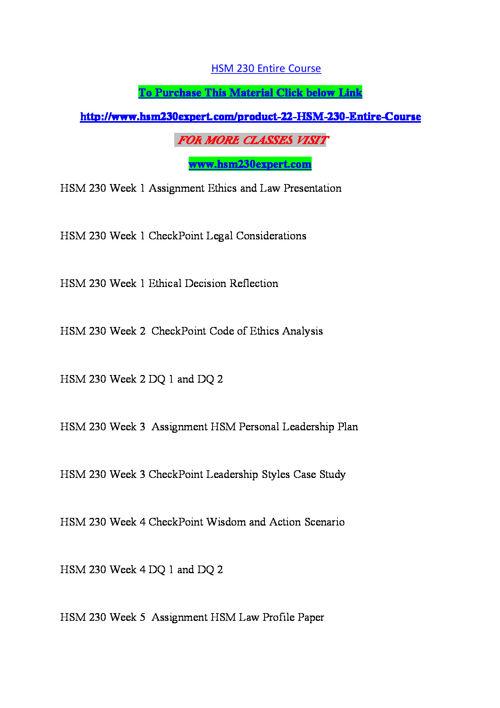 HSM 230  EXPERT Teaching Effectiverly/hsm230expert.com