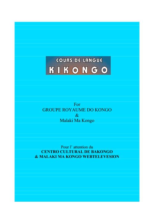COURS DE LA LANGUE KIKONGO II