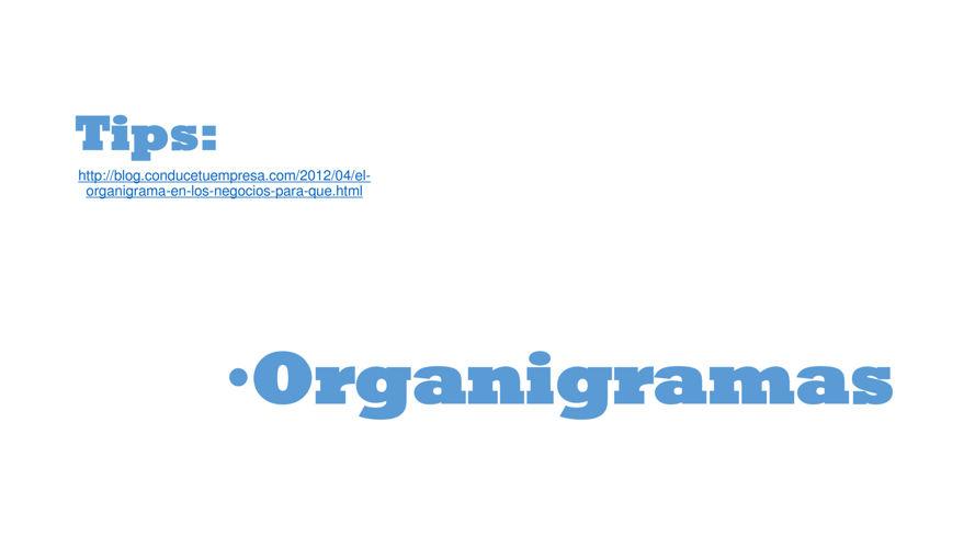Tips Organigramas