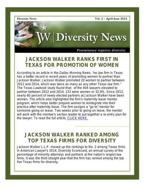 JW Diversity Newsletter Vol 2