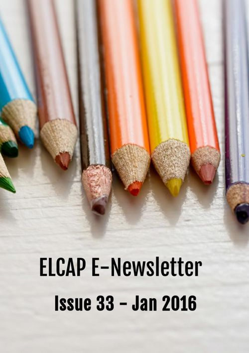 ELCAP E-Newsletter Issue 33 - Jan 2016