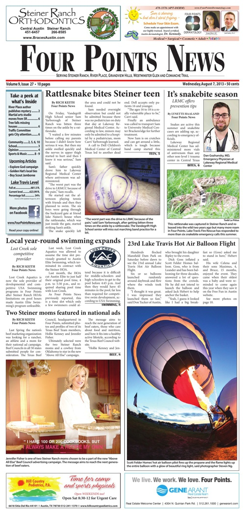 Four Points News August 7 2013 Issue
