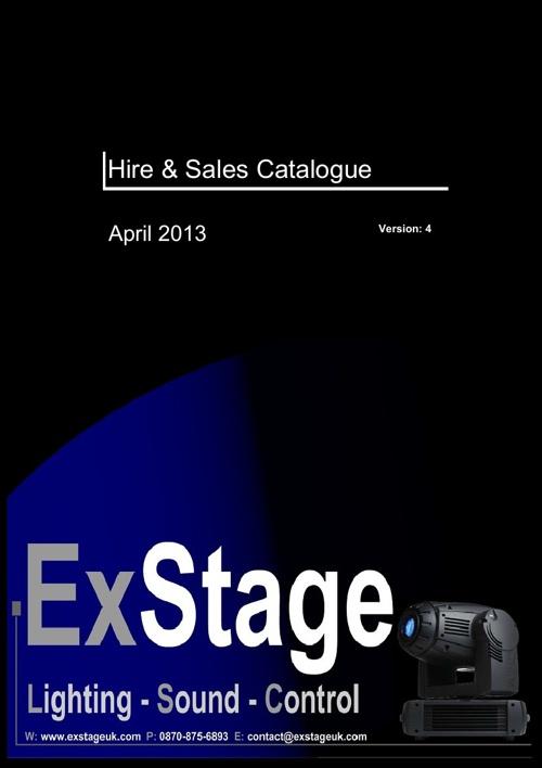 Exstage - Hire & Sales Catalogue (April 2013)