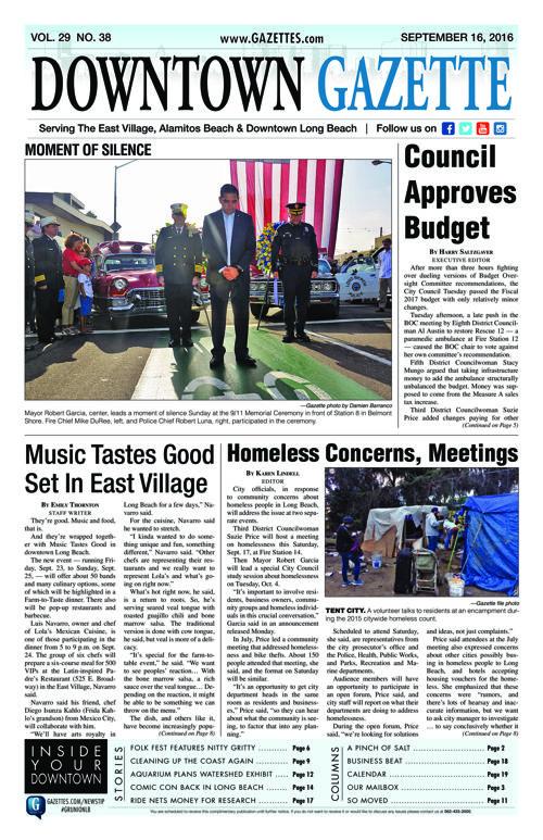 Downtown Gazette     September 16, 2016