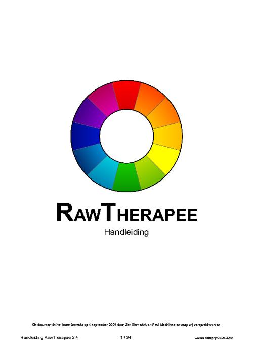 Handleiding Raw Therapee