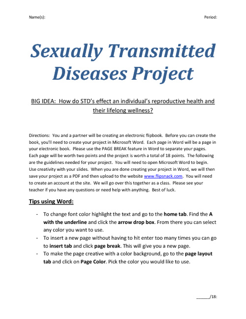 STD Guidelines
