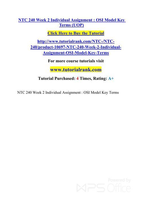NTC 240 UOP Courses /TutorialRank