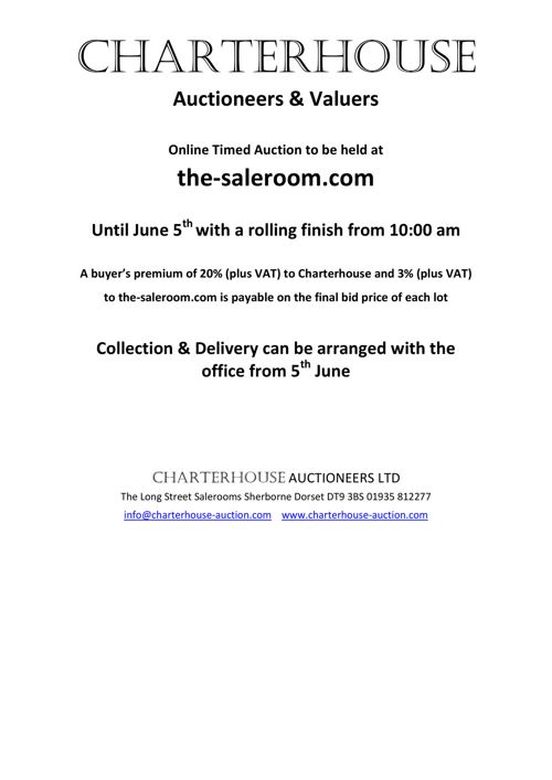 Charterhouse June Timed Poster Auction Catalogue
