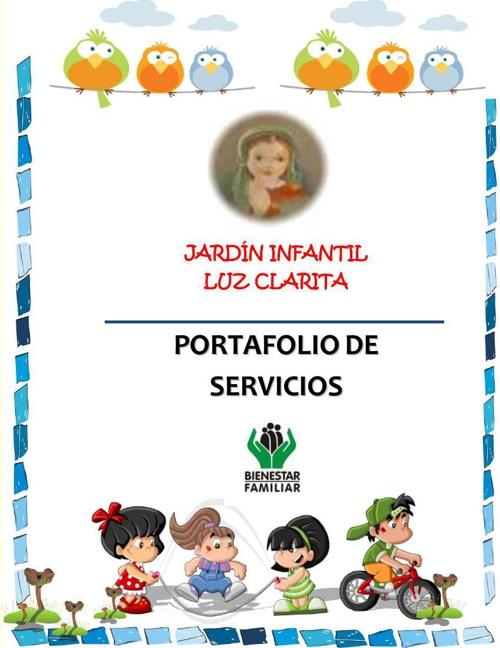 Portafolio de Servicios Jardín Infantil Luz Clarita