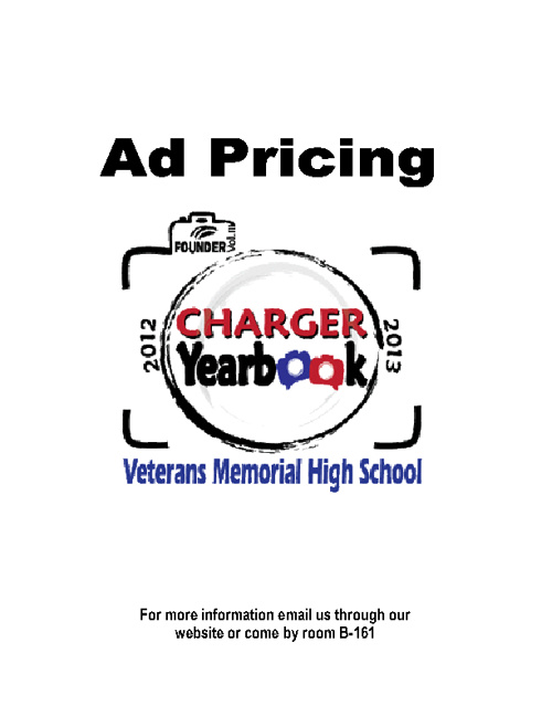 Yearbook Ad Pricing 2012-2013