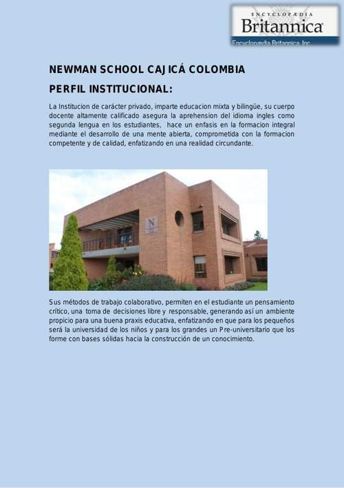 NEWMAN SCHOOL CAJICÁ COLOMBIA PDF2