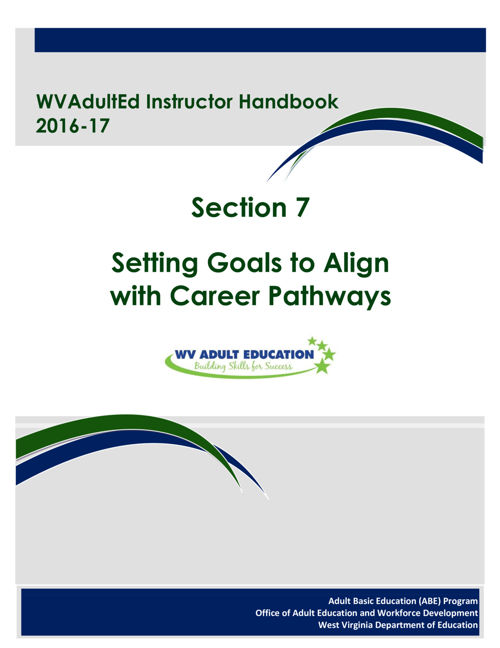 WVAdultEd Instructor Handbook 2015 - 2016 Section 7