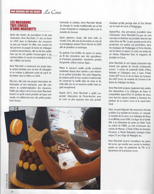Generation Entreprise avril 2014 (n°5) - Les macarons très corse