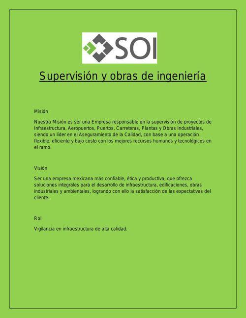Supervisión y obras de ingeniería word1