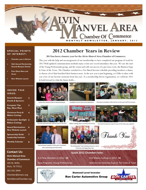 AMACC January 2013 Newsletter