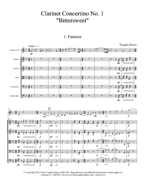 """Clarinet Concertino No. 1, """"Bittersweet"""""""