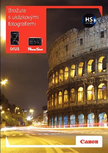 Brožura s ukázkovými fotografiemi