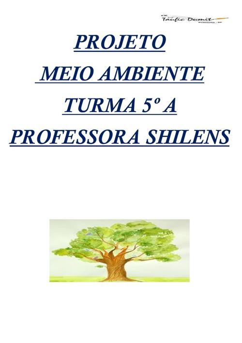 Projeto Meio Ambiente 4ºA Prof. Marta