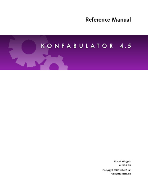 Konfabulator Reference 4.5
