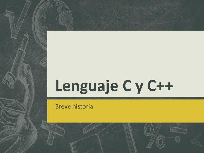 Lenguaje C y C++
