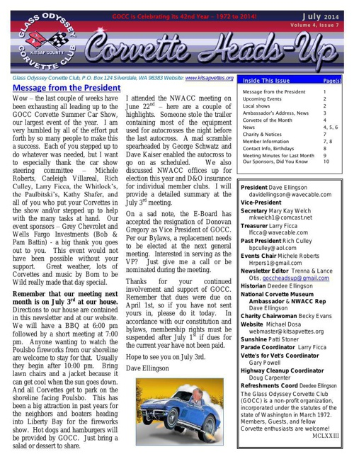 GOCC July 2014 Newsletter