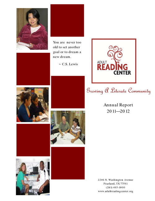Adult Reading Center Annual Report