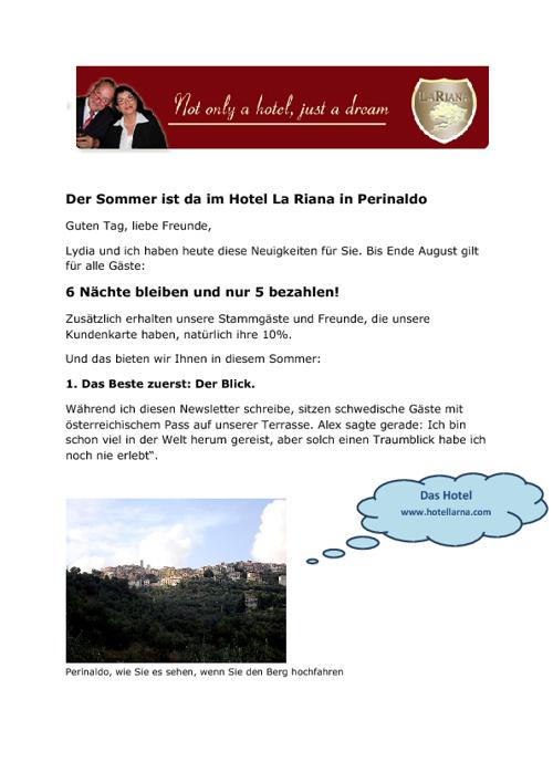"Sommermail Hotel ""La Riana"""