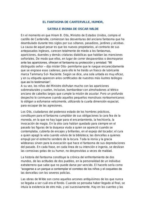 EL FANTASMA DE CANTERVILLEEEE