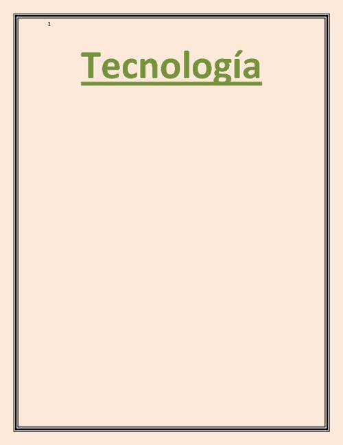 EL MUNDO DE LA TECNOLOGIA
