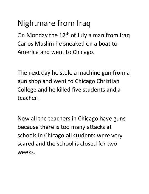Nightmare from Iraq