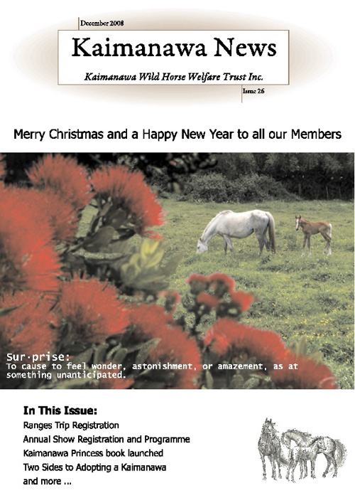 26 KWHWT Newsletter December 2008