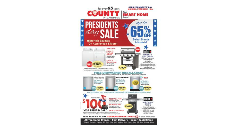 County TV - President's Day Sale!