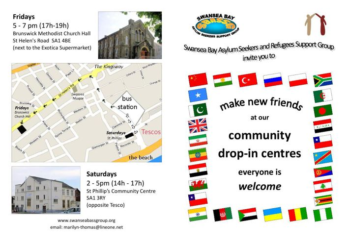 Leaflet -Swansea Bay Asylum Seekers and Refugees Support Group