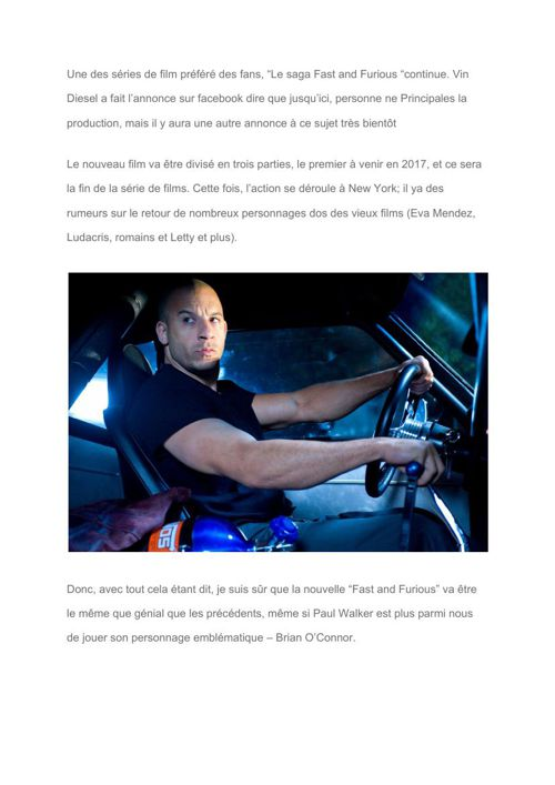 "[FR] It's official- Vin Diesel confirms ""Fast and Furious 8"" Tri"