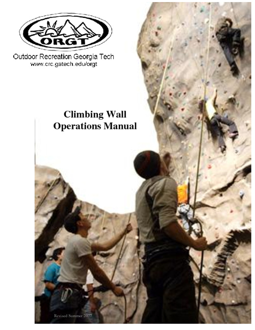 Georgia Tech Climbing Wall Manual