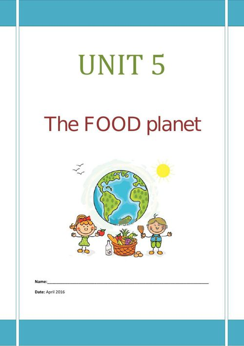 The Food Planet activity book