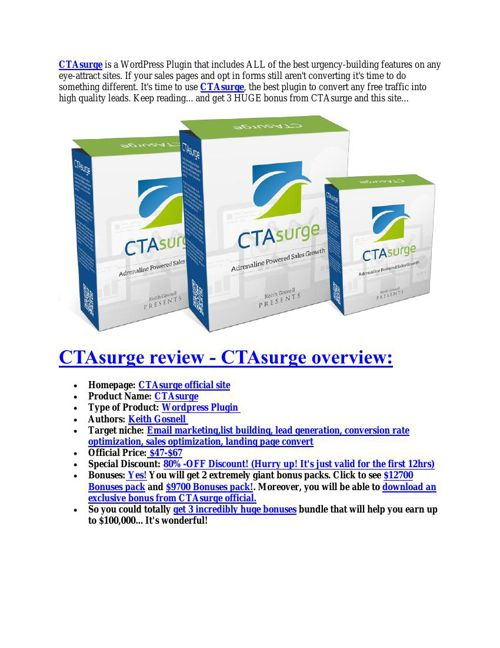 Hidden features review of CTAsurge and special $9700 bonus