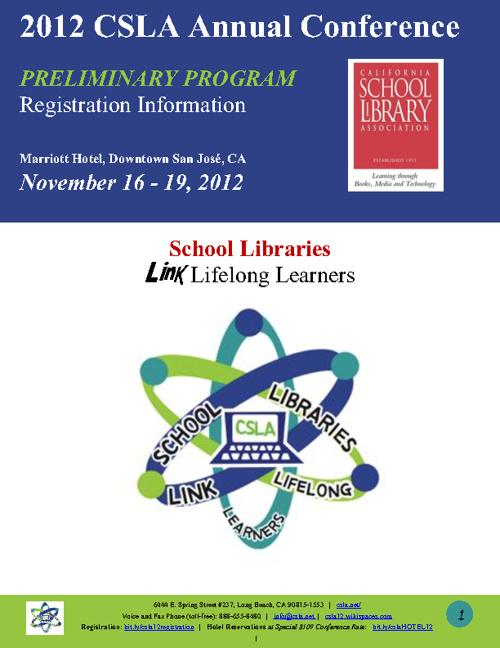 CSLA Preliminary Conference Program - San Jose 2012