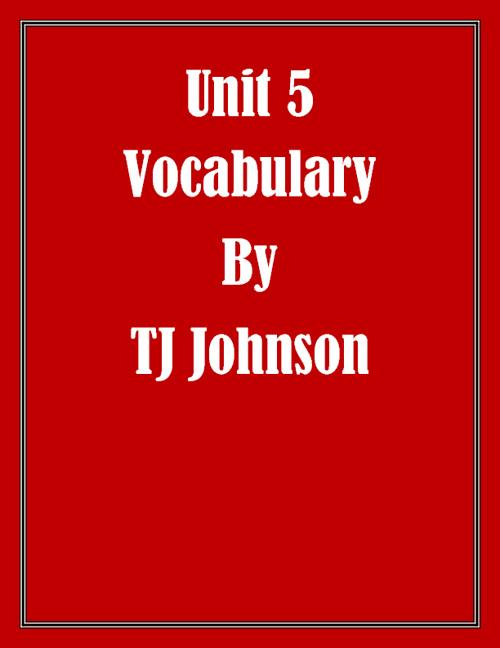 TJ Unit5 Voc.