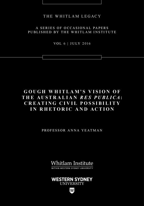 Gough Whitlam's Vision of the Australian Res Publica