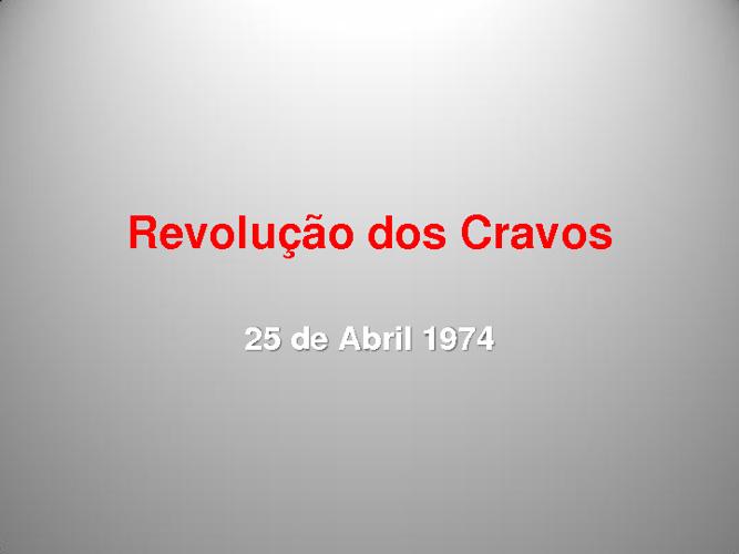 Revolução dos Cravos
