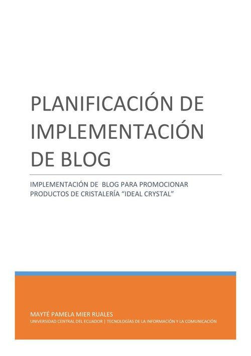 PLANIFICACIÓN DE IMPLEMENTACIÓN DE BLOG(1)